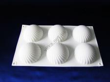 Форма силиконовая для муссовых тортов на планшете (6 шт) XY-C183  30 х 17 х 4 см.