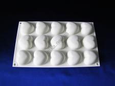 Форма силиконовая для муссовых тортов на планшете (15 шт) Сердце XY-C186  29 х 17 см.