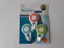 Крючки пластмассовые в наборе из 3-х 4,5 см.