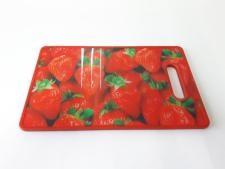 Доска разделочная пластмассовая с 3D эффектом 36,5*22,5 cm, t=1 cm.