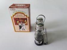 Набор для специй из 3-х нержавеющие (соль+перец+салфетница) h 13 cm
