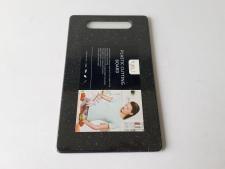 Доска пластмассовая черная крошка 15 х 25 х 0,65 см.