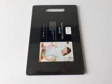Доска пластмассовая черная крошка 20 х 30 х 0,8 см.