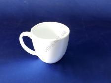 Чашка керамическая белая 230 мл. d 8 h 8,5 см.