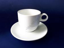 Чашка керамическая белая с блюдцем  d 9,5 см. h 8 cм (блюдце d 17 см) 320 мл.