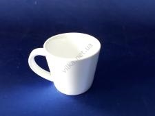 Чашка керамическая белая d 8 h 7 см. 180 мл.