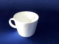 Чашка керамическая белая d 9,5 h 7,5 см. 500 мл.