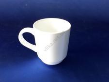 Чашка керамическая белая d 7,5 h 9 см. 220 мл.