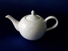 Чайник керамический белый 14 х 14 см. 1 л.