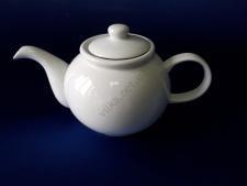 Чайник керамический.белый 13 х 14 см. 1,2 л.