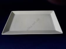 Тарелка керамическая белая для суши 17,5 х 27,5 см.