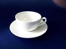 Чашка керамическая белая d 8,5 см. h 5 см. 130 мл.
