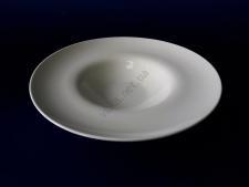 Тарелка керамическая белая для пасты d 28 h 5,5 см.