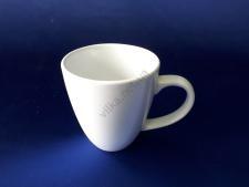 Чашка керамическая белая d 7,5 h 10 см. 350 мл.