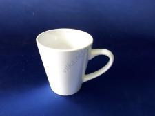 Чашка керамическая белая d 9 h10 см. 230 мл.