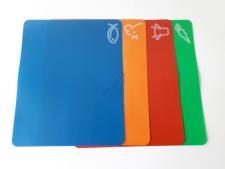 Доска разделочная пластиковая гибкая в наборе из 4-х  33,5*27 cm.
