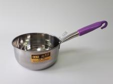 Ковш нержавеющий 18cm с силиконовой ручкой с крючком