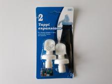 Пробка пластмассовая для бутылок в наборе из 2-х 7cm