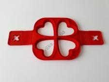 Форма силиконовая для оладьей (4 порций) d 15cm, с ручками L 32cm Сердце