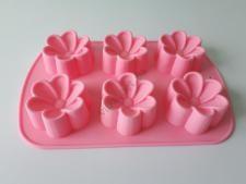 Форма силиконовая на планшете Цветы  из 6-ти 25*16,5*3cm