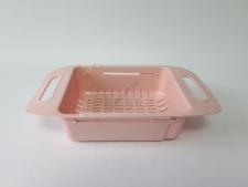 Корзинка раздвижная пластмассовая в мойку (35 cm - 47,5 cm) w 19,5 cm, h 8 cm.