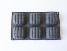 Форма силиконовая на планшете из 6-ти 29*17 cm. (7*7 cm, h 3 cm.)
