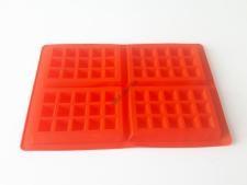 Форма силиконовая для выпечки вафель(4 шт) 28*18 cm, h 1,5 cm. (изделие 12,5*8,5 cm, h 1,5 cm.)