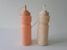Набор бутылок пластмассовых из 2-х для соуса h 26 cm. (700 мл.)
