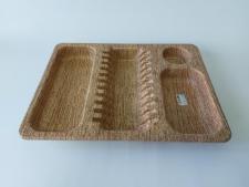 Сушарка для посуду під дерево КРА 553 (12шт)