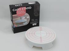 Стійка пластм для торта з обертанням з розмітками 31*7,5см  VT6-20307(12шт)
